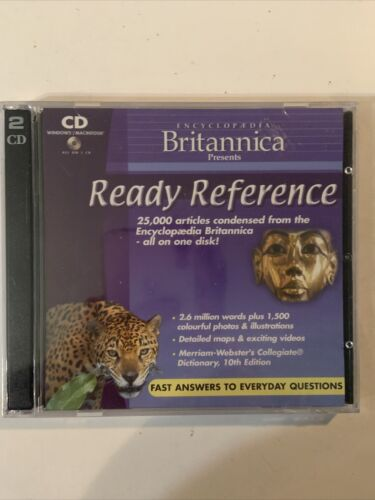 Encyclopedia Britannica Ready Reference (CD-rom 2 Discs) New/sealed