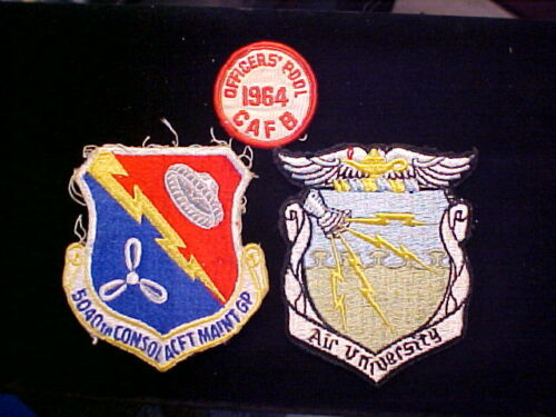 3 Vietnam Era AIR FORCE PATCHES Estate Find 1 Dated 1964 Columbus Air Force Base
