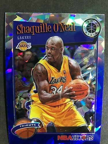 2019-20 Hoops Premium Stock Prizms Blue Cracked Ice #283 Shaquille O'Neal