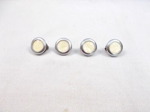"""Four 1940s """"Pearl"""" like Doorbell Push Button Switches"""
