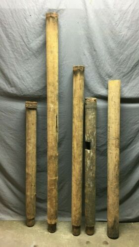 Antique VTG 21' Linier Feet Of Wood Well Water Pump Piping Old Chic 1183-21B