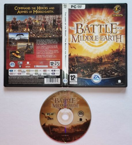 LOTR Lord of the Rings: Battle for Middle Earth (PC, DVD, 2004) Video Game ORIG