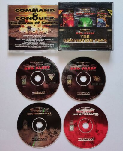 VINTAGE Command & Conquer: Red Alert Domination Pack (PC, 1997) Video Game ORIG