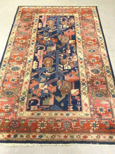 antiques-swiss******  Beautiful Antique ROTWILLER Swiss made rug 4`3 x 6`6 ft