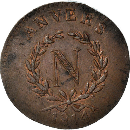 [#970833] Monnaie, FRENCH STATES, ANTWERP, 5 Centimes, 1814, Anvers, Grand Modul