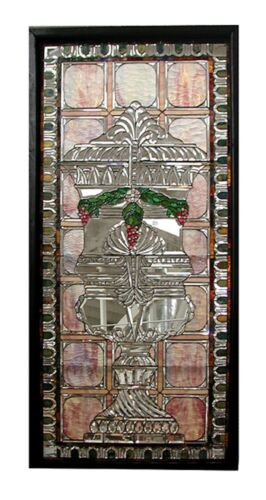 Stained Glass Window, Beveled Glass, Antique  #5507