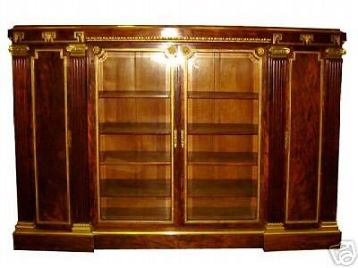 French Empire Bookcase with Greek Key #6610