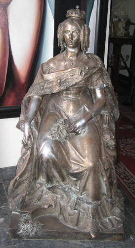Jean Jaquet French 1878 Of Marie Therese Bronze Statue   MAGNIFICENT