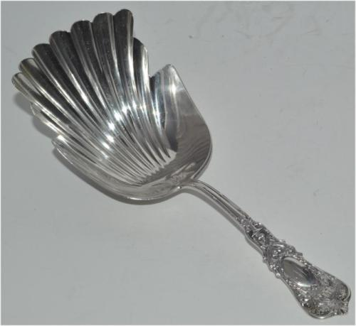 RARE DURGIN STERLING CRACKER SCOOP SARATOGA EMPIRE 1895