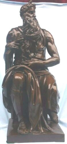 Michel angelo 18th Century Bronze Statue Of Moses  MAGNIFICENT