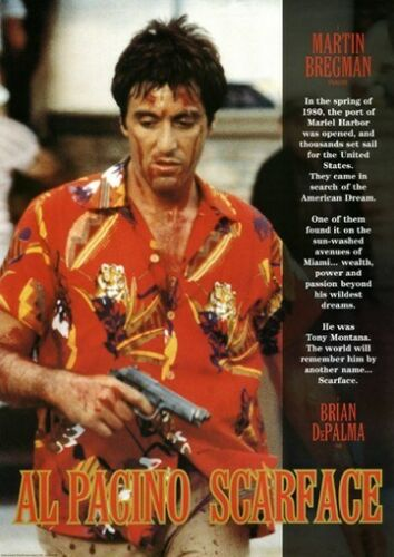 SCARFACE POSTER Al Pacino - Story Line RARE NEW 24X36
