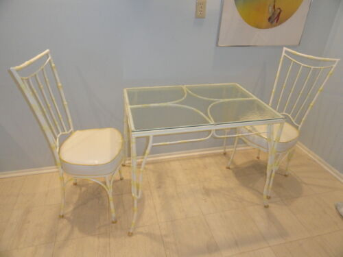 MID CENTURY CHINESE CHIPPENDALE DINING TABLE + 2 CHAIRS