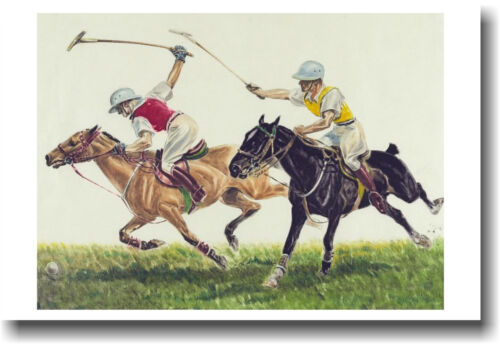 Pair of Polo Players - Vintage Art Print NEW POSTER