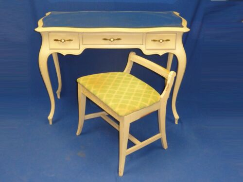 50s SHABBY FRENCH PROVINCIAL VANITY & CHAIR SLIGH FURN