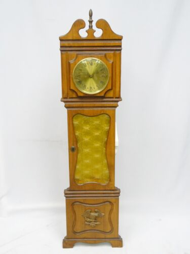 RARE GERMAN WOOD & AMERICAN EAGLE BRASS WALL CLOCK ~50""