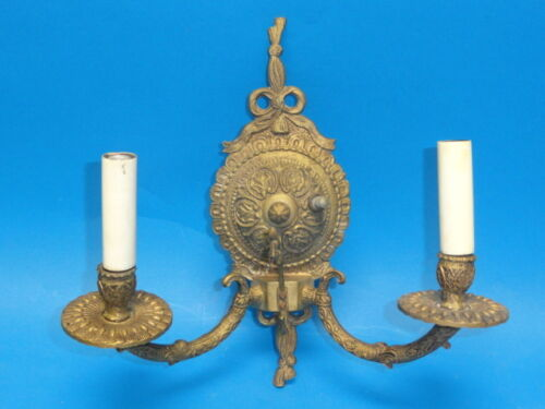 VINTAGE 60's BRASS NEOCLASSICAL SCONCE * MADE IN SPAIN