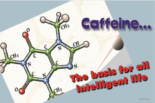 NEW POSTER - Caffeine... the basis for all intelligent life - Funny Chemistry