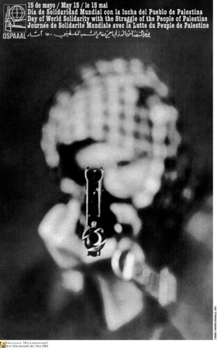 Political OSPAAAL Poster.Palestinian Aim.Muslim.arab.Middle East History.me15