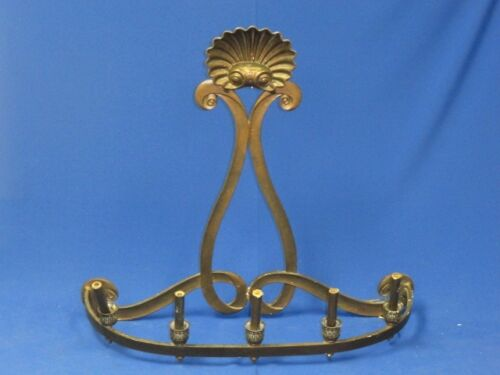 FANTASTIC LARGE ANTIQUE NEO-CLASSIC BRONZE WALL SCONCE CHANDELIER LAMP FIXTURE