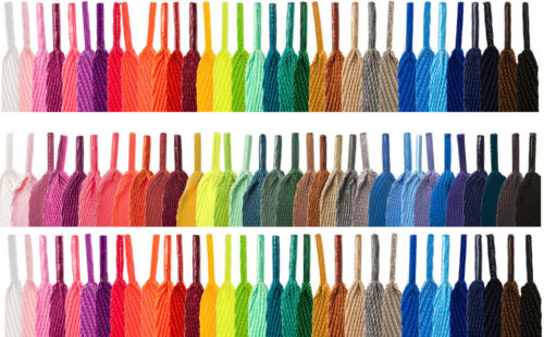 FLAT COLOURED SHOE LACES SHOELACES BOOTLACES - 30 COLOURS - 2 WIDTHS - 5 LENGTHS <br/> From £1.69 with FREE 1st Class Postage in the UK!