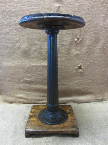 Vintage 1800s Cast Iron & Wood Stool > Antique Table Stand Old Chair RARE 7362
