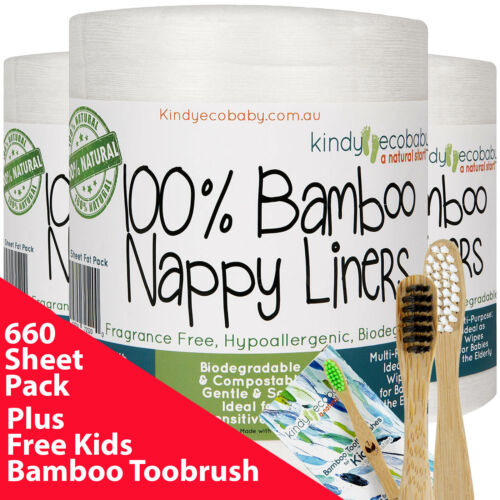 880 Pack Bamboo Flushable Liners Nappy Insert Cloth Biodegradable Natural Liner