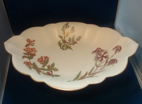Rare 19th c. Worcester Aesthetic Porcelain Tazza Centerpiece Bowl Henry Hundley