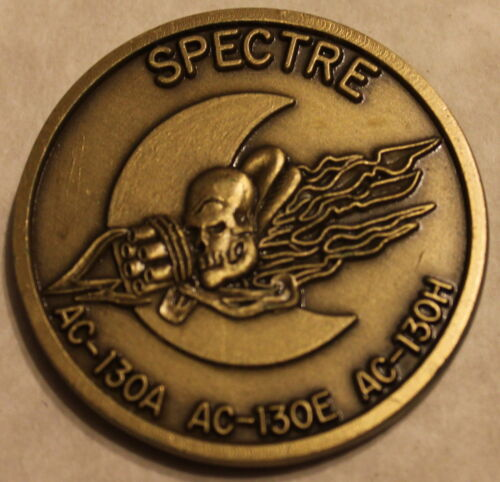 Special Operations Spectre Gunship II AC-130A 130E 130H Air Force Challenge CoinOriginal Period Items - 13983