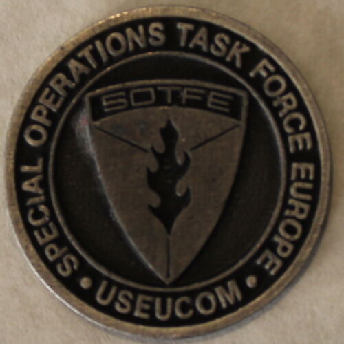 Special Operations Task Force Europe SOTFE USEUCOM Military Challenge CoinOriginal Period Items - 13983