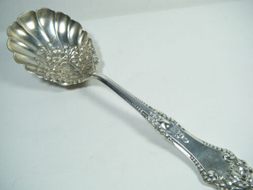 VTG STERLING REED & BARTON LA TOURAINE BERRY CASSEROLE SPOON RAISED DESIGN BOWL