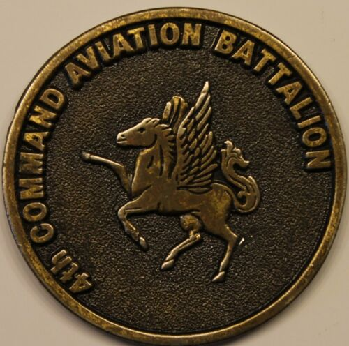 4th Command Aviaiton Battalion Commander's Army Challenge Coin -- vintage coinOriginal Period Items - 13983