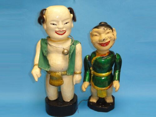 PAIR of EARLY MID CENTURY KHMER CAMBODIAN ARTICUlATED DOLL