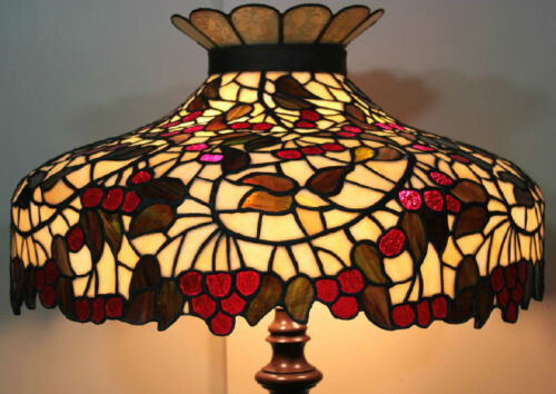 """Chicago Mosaic Leaded Stained Glass Lamp Shade Cherry Tree Tiffany Style 25"""""""