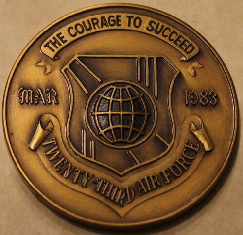 23rd Numbered Air Force 1983 Special Operations Bronze Challenge Coin / AFSOCOriginal Period Items - 13983