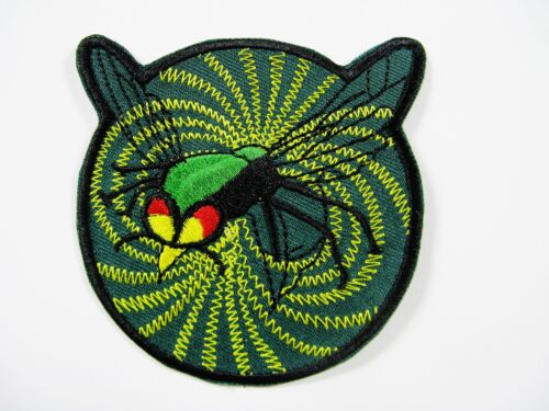"THE GREEN HORNET IRON - ON PATCH (SIZE 3 3/8"" X 2 3/8"") ITEM # 131Navy - 66533"