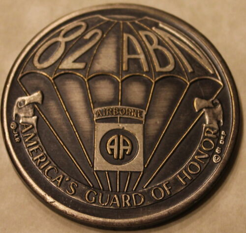 82nd Airborne America's Guard 30th Convention Serial #170 Army Challenge CoinOriginal Period Items - 13983