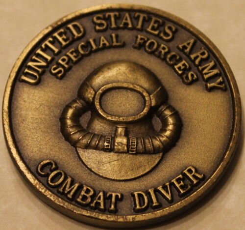 Combat Diver 1st Battalion 1st Special Forces Group Airborne Army Challenge CoinOriginal Period Items - 13983