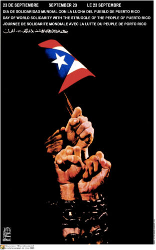 Political POSTER.Puerto Rico Freedom Independence Revolution History art.am13