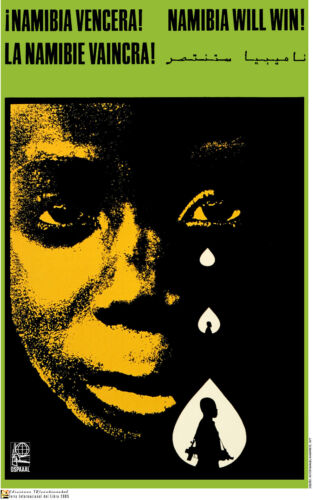 Political POSTER.Namibia Vencera.African Anti-Apartheid.Racism History art.a18
