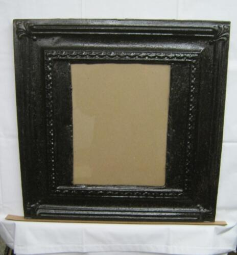 Antique TIN CEILING Metal 11x14 RUST Picture Frame Recycled # 2683-13