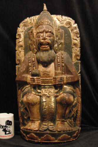 "Large Balinese King or Priest 23"" (58 cm) Traditional Balinese Wood Carving"