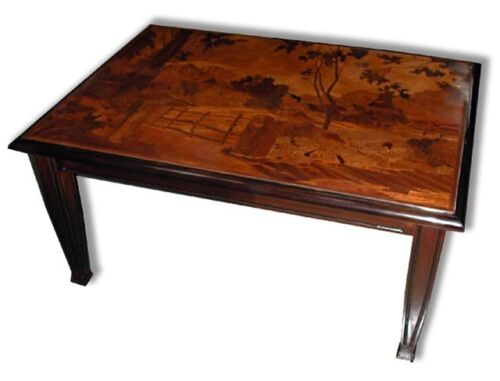 Inlaid Art Nouveau Coffee Table #5500