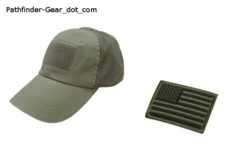 a9bc8c4adbd  12.99 CONDOR Contractor Mesh Tactical BDU Ball Cap OD GREEN +Flag Patch  SPECIAL FORCESOther Current Field