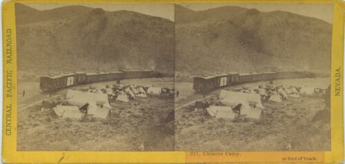 C.P.R.R Hart/Watkins series # 327 Chinese Camp at end of track 1860's