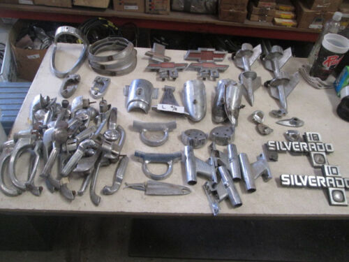 Large Lot of Used Chrome Parts for Vintage Chevrolet Trucks?? Fair to Good CondMedals, Pins & Ribbons - 104024