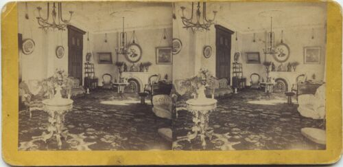 C.P.R.R Hart/Watkins series # 1004 Governor-Stanford Music Room 1860's