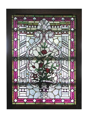Stained Glass Window, Beveled and Leaded Glass, Victorian  #5035