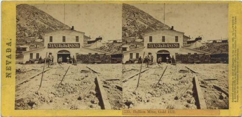 Lawrence & Houseworth stereoview # 735 (1860's) Bullion Mine, Gold Hill, Nevada