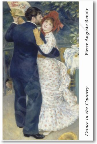 Pierre Auguste Renoir - Dance in the Country 1883 - NEW French Art Print POSTER