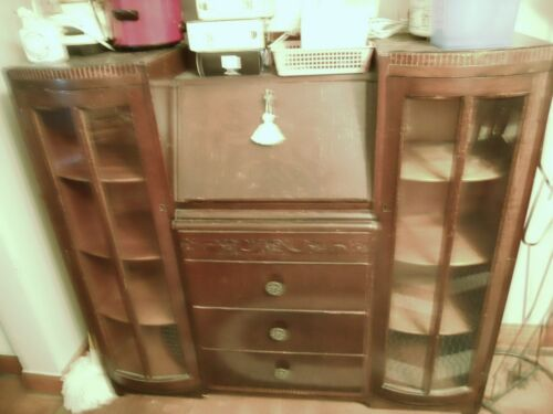 SECRETARY ENGLISH CA1850 OAK 48X44X13 CHICAGO AREA P/U